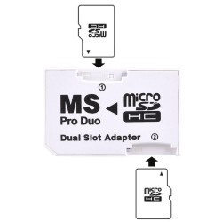 Micro SD TF to Memory Stick MS Pro Duo Dual Slot Adapter