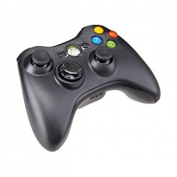 Used Genuine Xbox 360 Black Wireless Controller